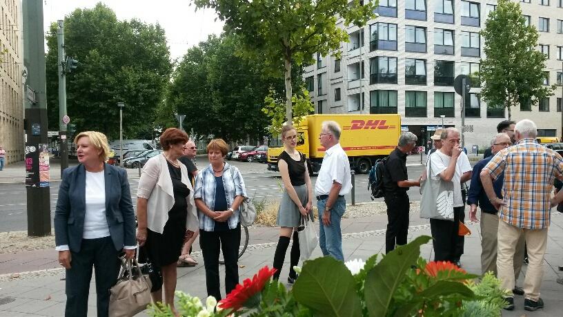 Kreisvorsitzende der SPD-Berlin Mitte & MdA Eva Högl, Bezirksverordnete der SPD-Fraktion Mitte Ana-Anica Waldeck & MdA Bruni Wiildenhain-Lauterbach